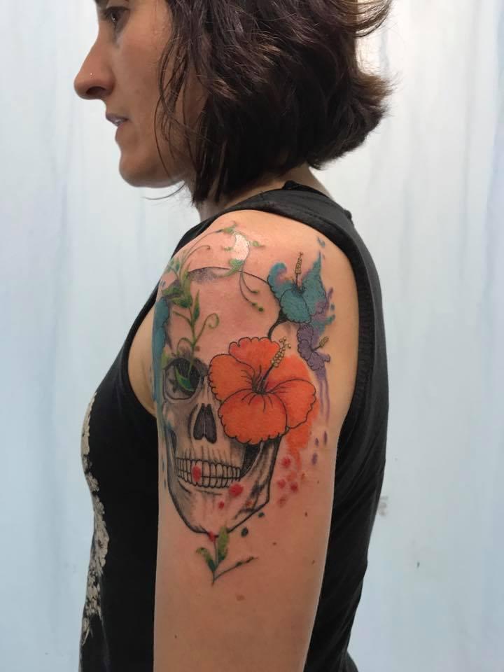 acuarela-calavera-floral-fernando